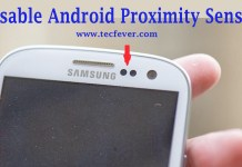 Disable Android Proximity Sensor