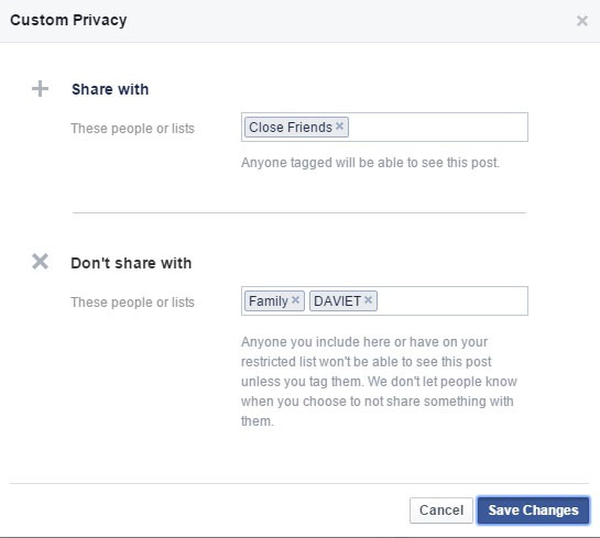 Update Your FB Status To Selected People2