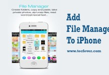 Add File Manager To iPhone
