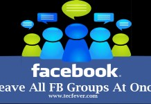 Leave All Facebook Groups with a single click