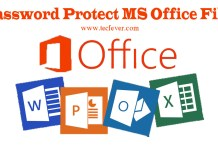 Protect MS Office Files with Password