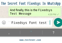 Use The Hidden Font In WhatsApp Chat