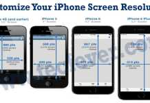 Customize iPhone Screen Resolution