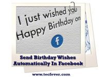 send birthday wishes automatically facebook