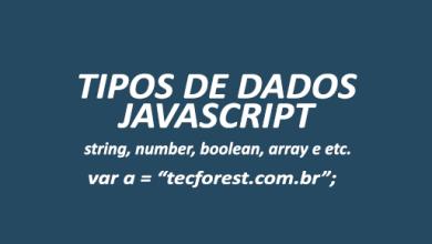 Photo of Tipos de dados JavaScript