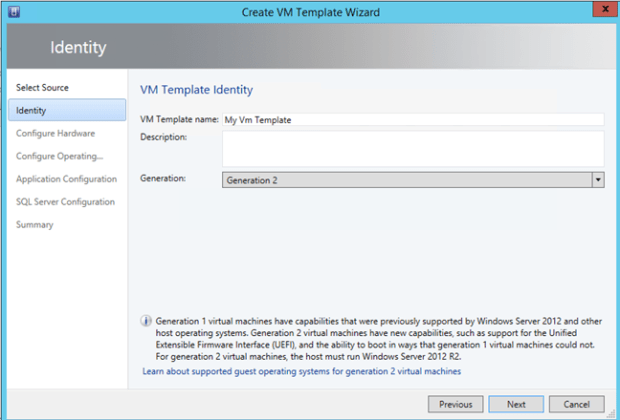 Prepare a VM Template for fast deployment in VMM 2012R2
