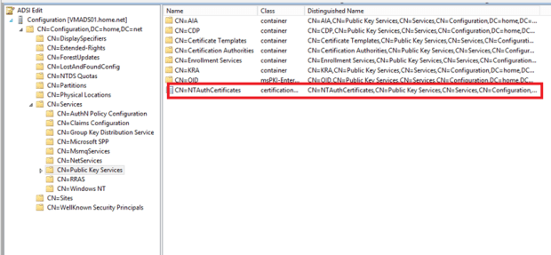 Pki ganesh nadarajan blog the first objects called ntauthcertificates contains ca certificates that can issue certificates for authentication as smart cart logon yadclub