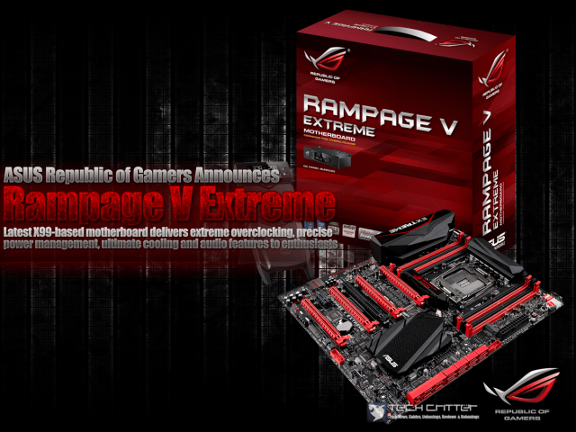 ASUS Republic of Gamers Announces Rampage V Extreme 13