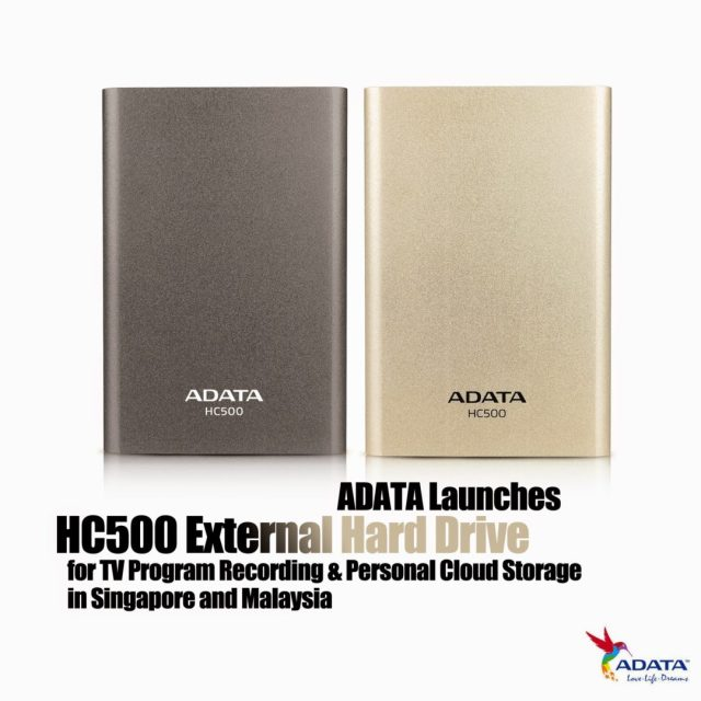 ADATA Launches HC500 External Hard Drive for TV Program Recording & Personal Cloud Storage in Singapore and Malaysia 11
