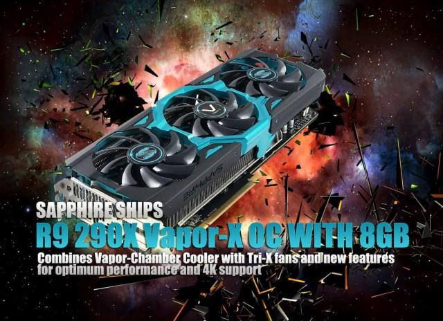 SAPPHIRE SHIPS R9 290X Vapor-X OC WITH 8GB 3