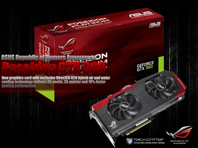 ASUS Republic of Gamers Announces Poseidon GTX 980, priced at RM2,599 1
