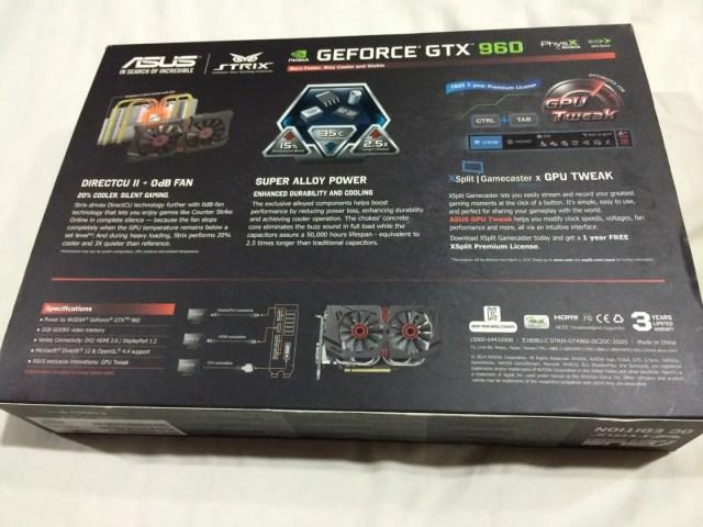 Unboxing & Review: ASUS Strix GTX960 3