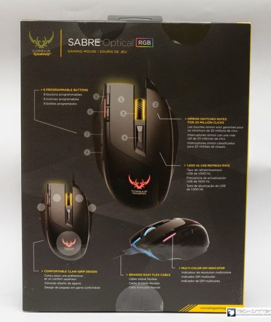 Unboxing & Review: Corsair Gaming Sabre Optical RGB Gaming Mouse 5