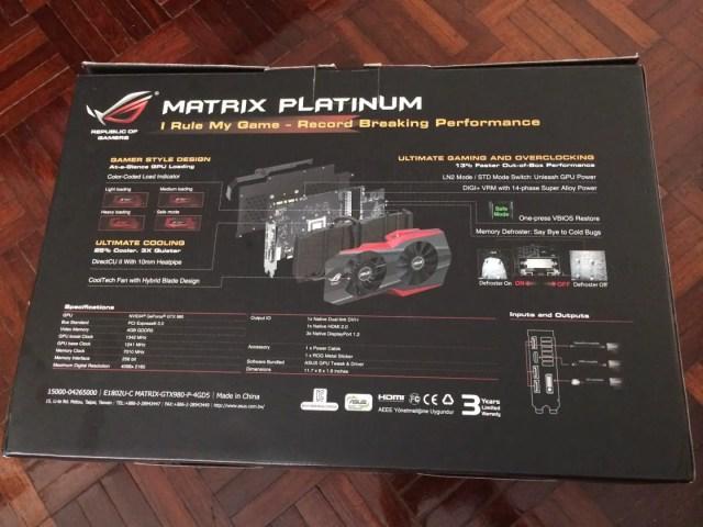 Unboxing & Review: ASUS ROG GTX 980 Matrix Platinum 49