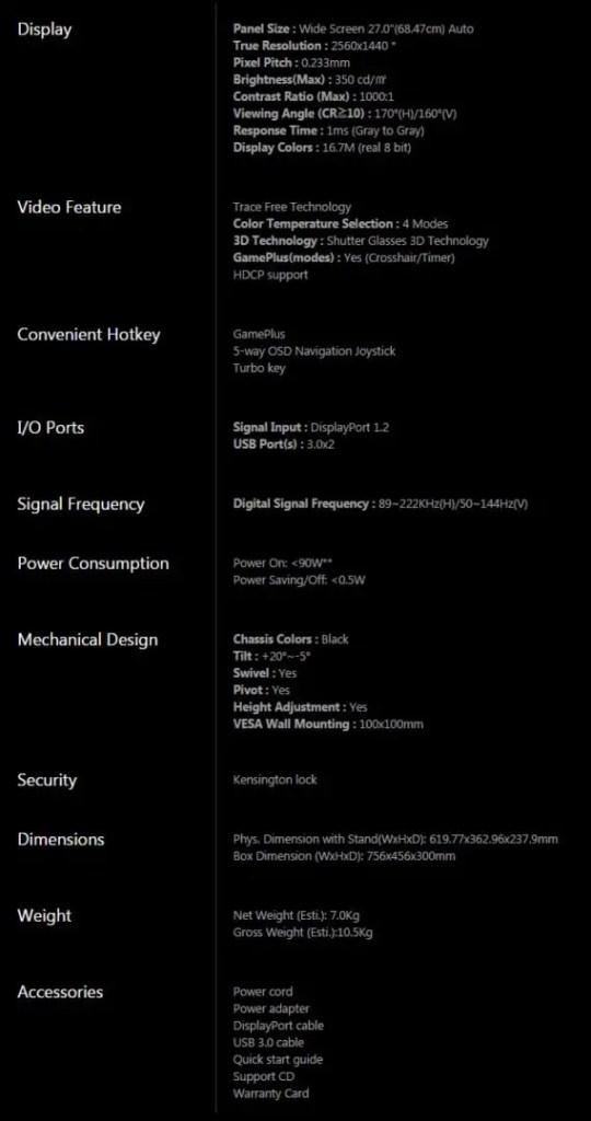 Review: ASUS ROG SWIFT PG278Q G-SYNC Gaming Monitor 1