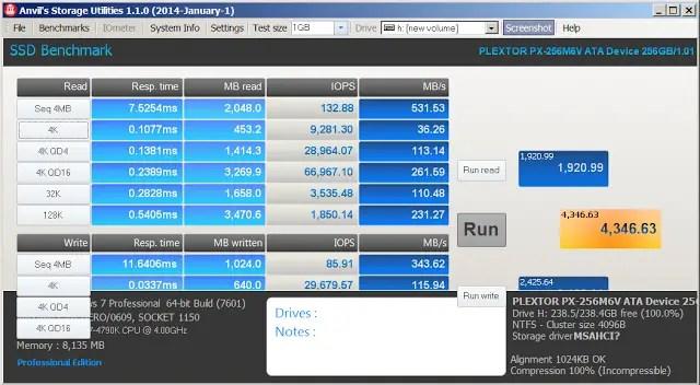 Plextor M6V 256 GB SSD Review 19