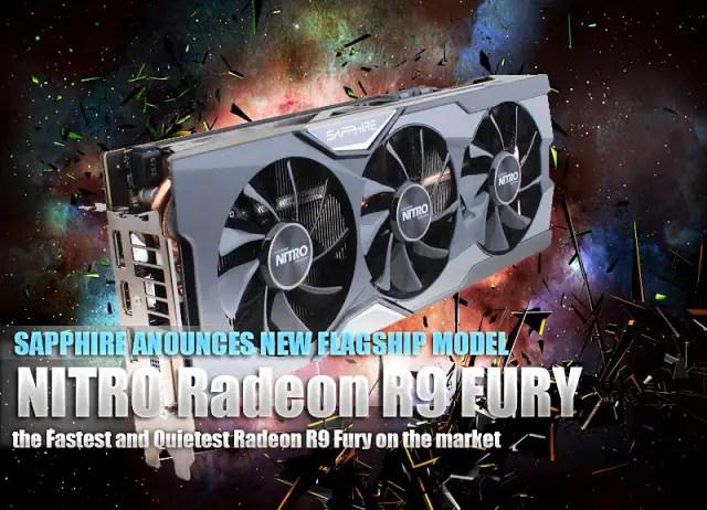 SAPPHIRE Unveils the New Flagship Model NITRO Radeon R9 FURY 9