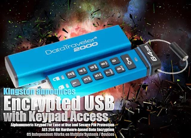 Kingston announces the DataTraveler 2000 Encrypted USB with Keypad Access 3
