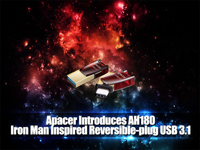 Apacer Introduces AH180 - Iron Man Inspired Reversible-plug USB 3.1 Type-C Dual Flash Drive 9