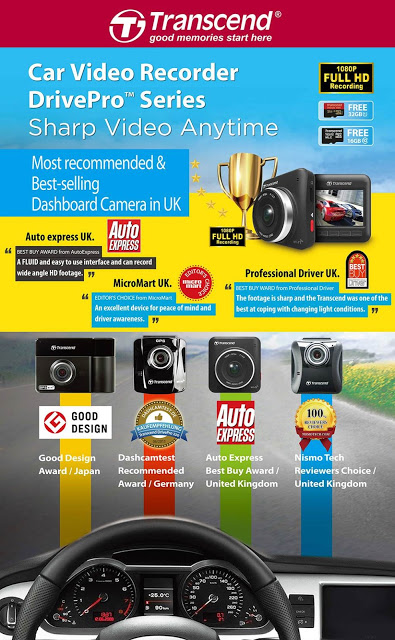 Transcend's DrivePro Car Video Recorders: Drive Safer with a Reliable Eyewitness 2