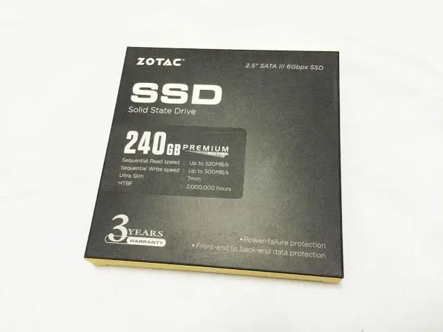 Unboxing & Review: ZOTAC 240GB Premium Edition SSD 40
