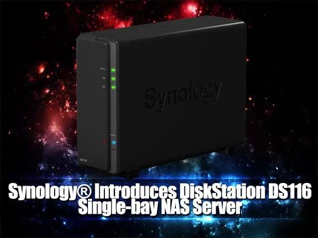 Synology® Introduces DiskStation DS116 Single-bay NAS Server 9