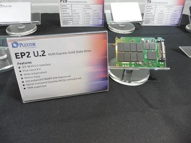 Computex 2016 Coverage: Plextor Showcases Its New M8Pe Series NVMe SSD, EX1 External SSD and EP2 U.2 SSD 10