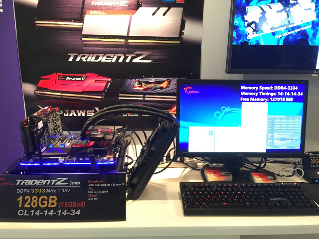 G.SKILL Showcase DDR4-3333MHz CL14 128GB and DDR4-3333MHz CL13 64GB Memory at IDF 2016 2