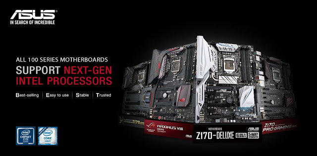 ASUS Announces Intel 7th Gen LGA 1151 Socket Processors