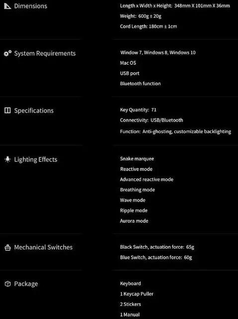Drevo Calibur 71-Key Bluetooth RGB Mechanical Keyboard Review 1