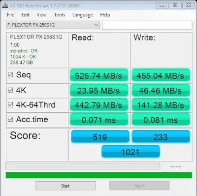 Plextor S1G 256GB M.2 SSD Review 7