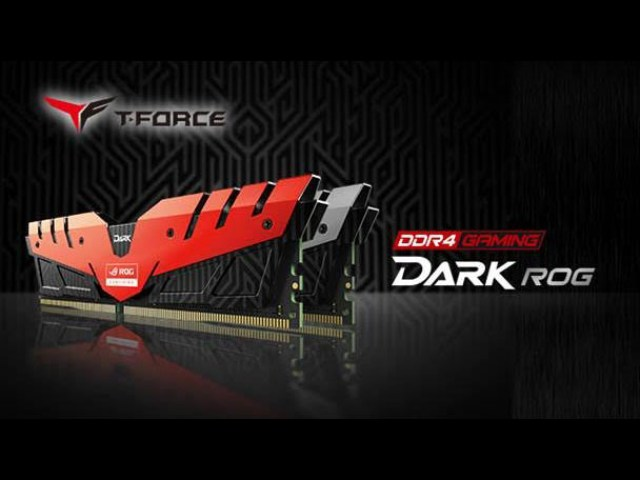 Team Group Officially Announces Its ROG Certified T-FORCE DARK Series Memory Kit 1