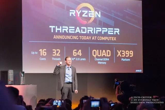 Computex 2017: AMD Demonstrates the Ryzen Threadripper & Radeon Vega 17