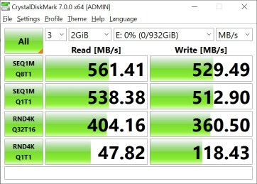 CrystalDiskMark Samsung 860 EVO 2GB (1)