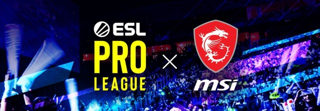 MSI Official Gaming Partner ESL Pro League Season 11 and 12