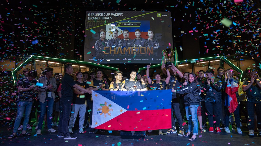NVIDIA GeForce Cup 2019 Winner Bren Esports from the Philippines Cover