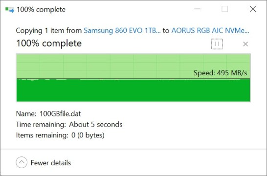 Samsung 860 EVO Copy to NVMe SSD 100GB (1)