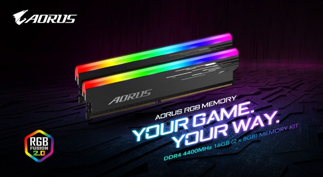 Gigabyte AORUS RGB MEMORY 4400MHz Featured