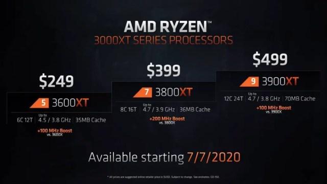 AMD Ryzen 5 3600XT Ryzen 7 3800XT Ryzen 9 3900XT Featured