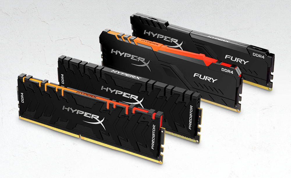 HyperX DDR4 Predator DDR4 RGB and FURY DDR4 RGB