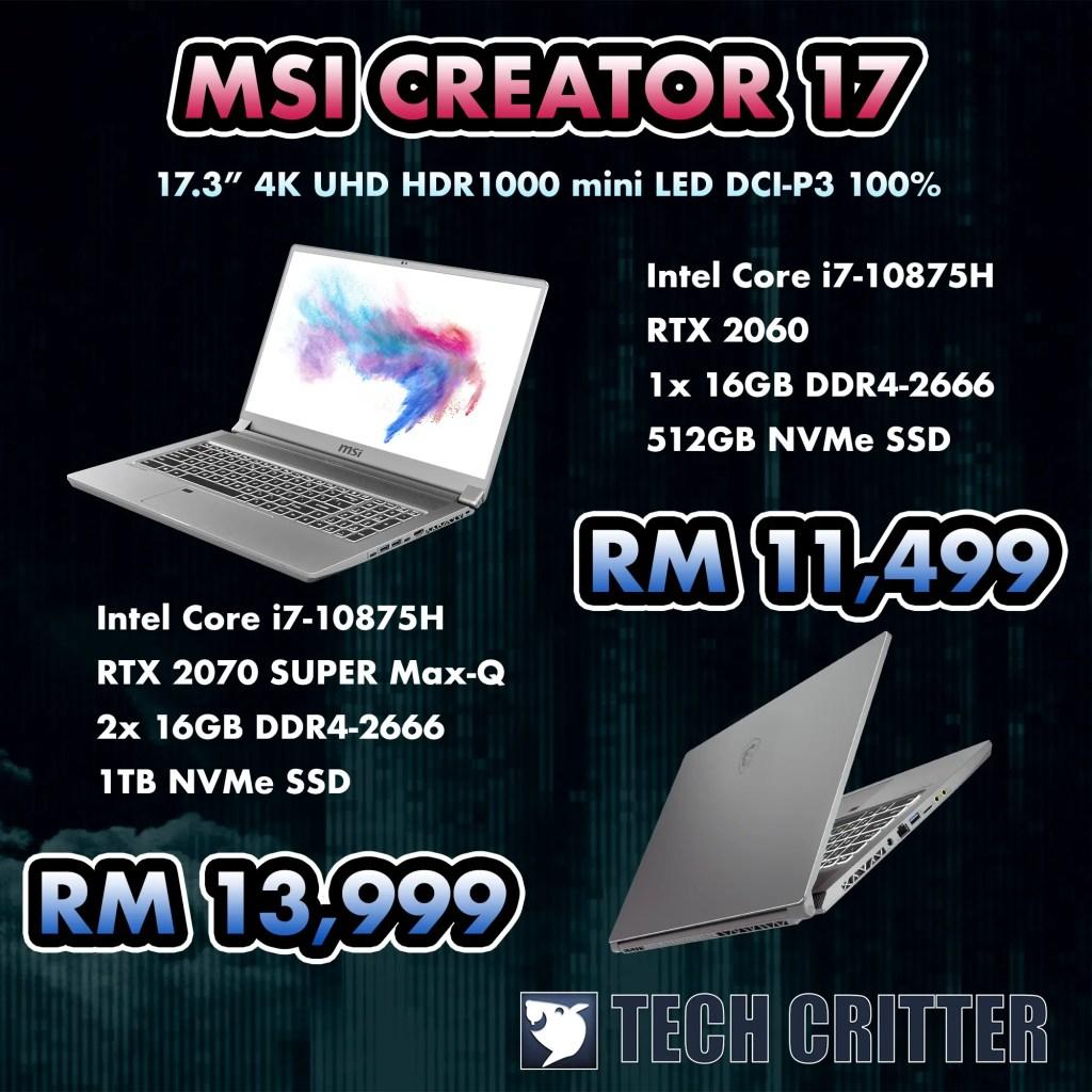MSI Creator 17
