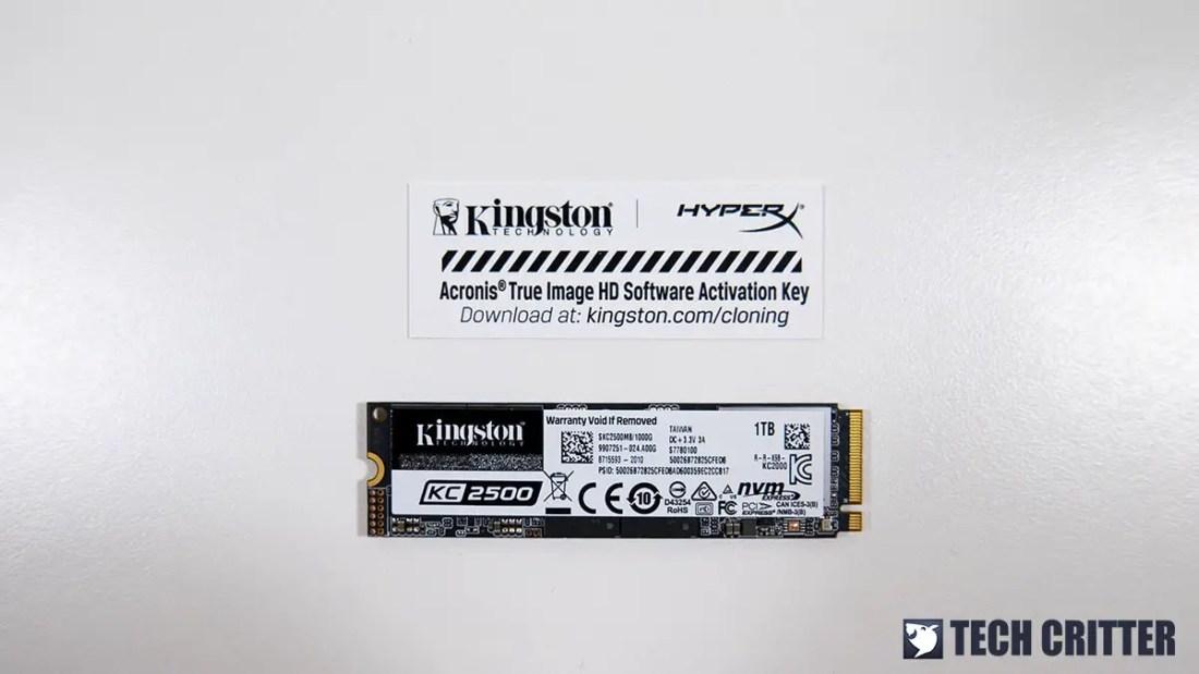 Kingston KC2500 NVMe SSD 1