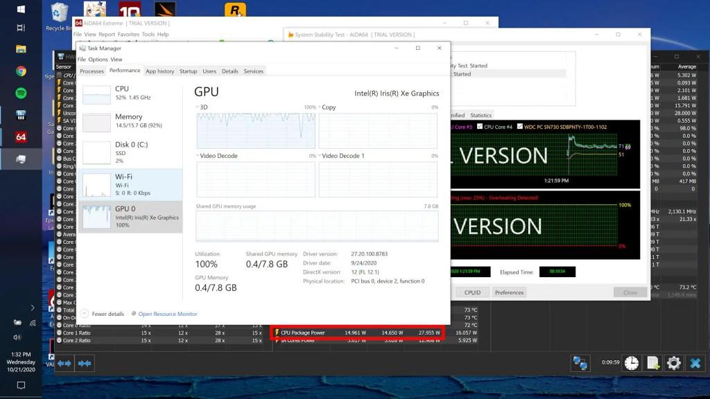ASUS ZenBook Flip S UX371 Intel Core i7 1165G7 performance 12
