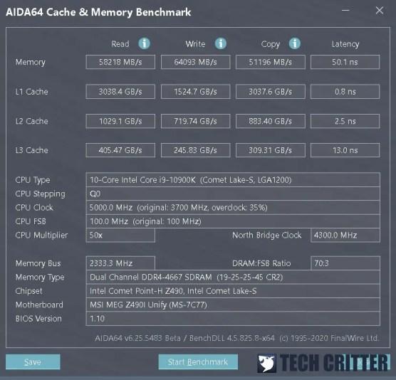 KLEVV CRAS XR RGB DDR4 4666 AIDA64 new