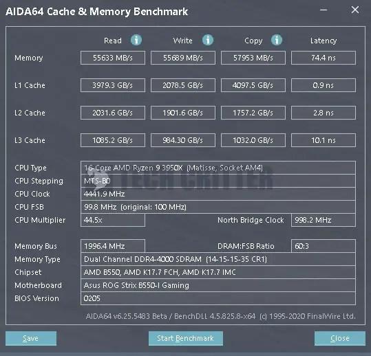 ADATA XPG Spectrix D60G DDR4 4000 CL14 AIDA64