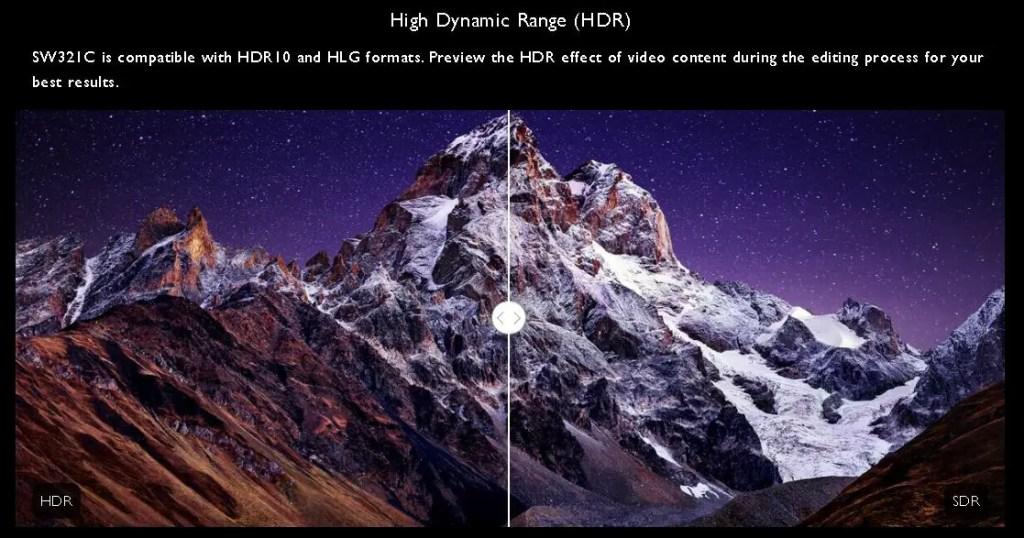 BENQ PhotoVue SW321C HDR SDR