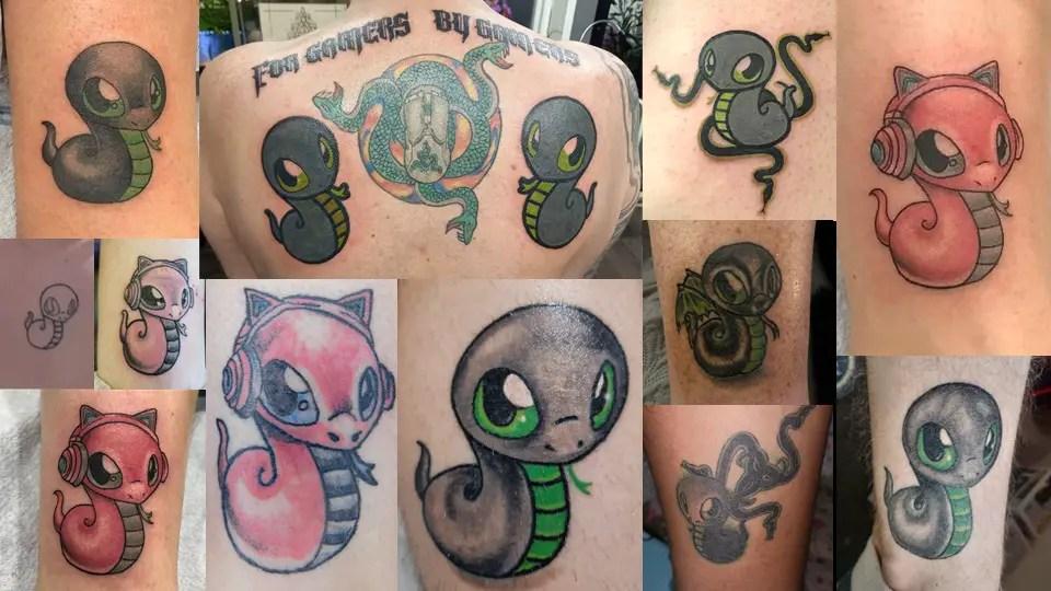 Razer Sneki Snek Tattoos