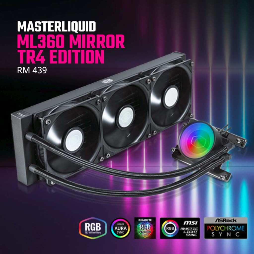 Cooler Master MasterLiquid ML360 Mirror TR4 Edition Price