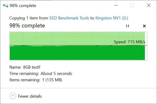 Kingston NV1 Copy from SSD 8GB b