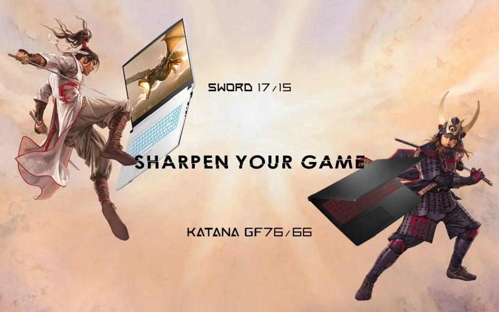 MSI Sword 17 Sword 15 Katana GF76 GF66